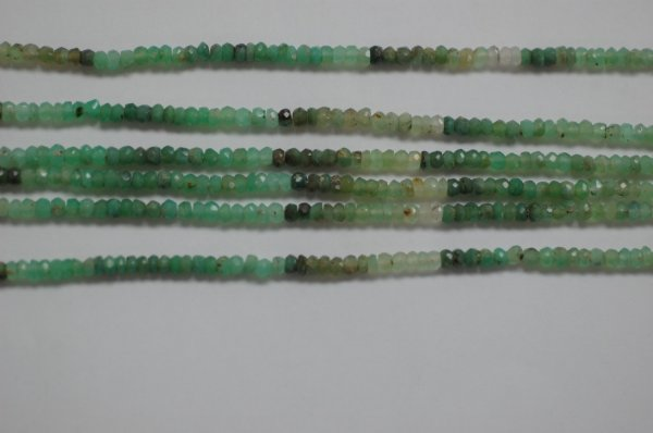 Chrysoprase Rondelle Faceted