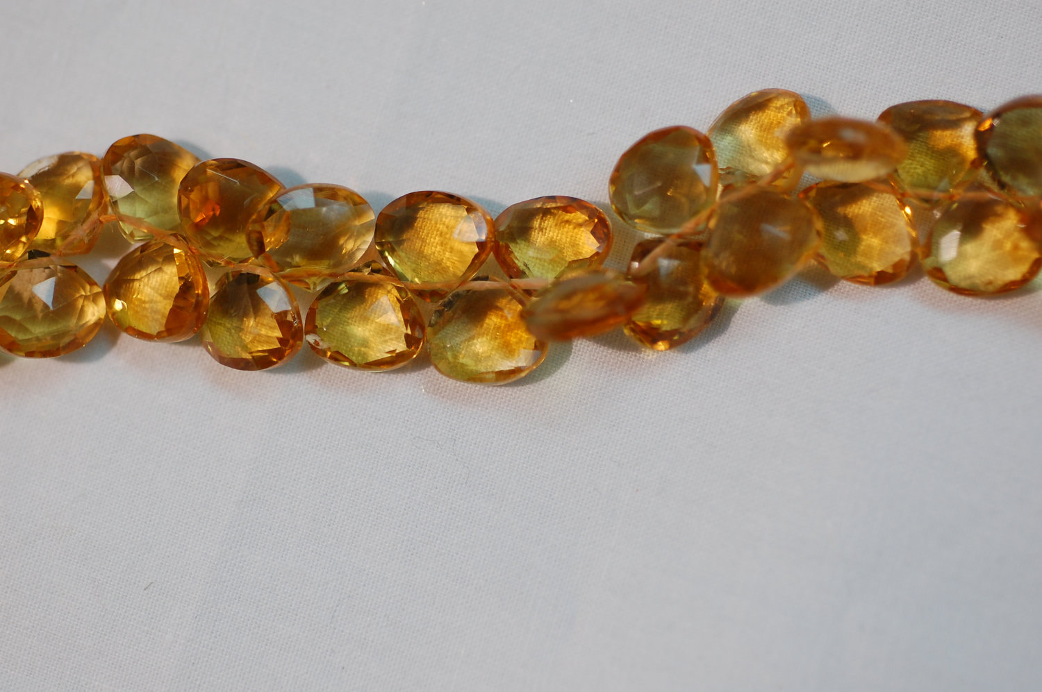 Citrine Hearts Faceted