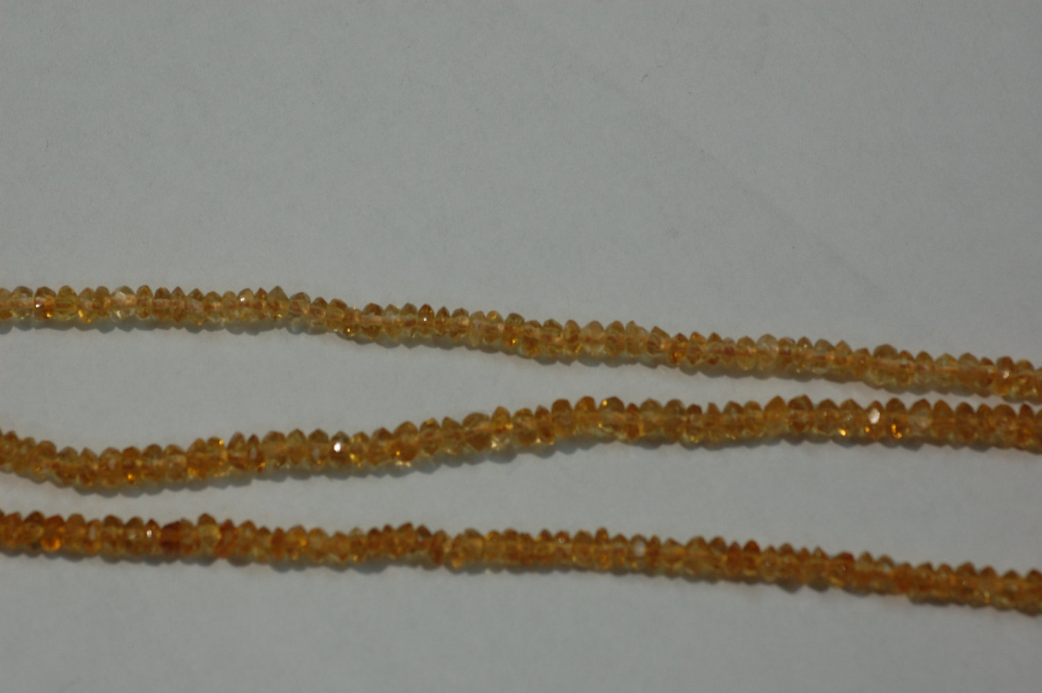 Citrine Rondelle Faceted