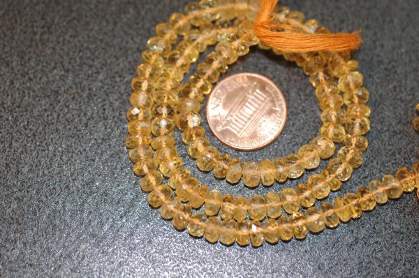 Citrine Rondelle Faceted (Big Size)