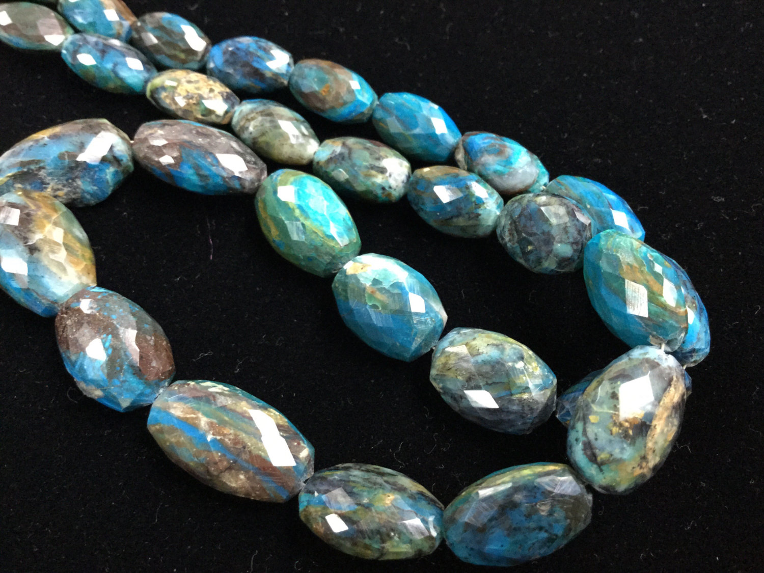 Crysocolla Ovals Faceted