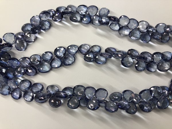 Blue Mystic  Quartz Hearts Faceted