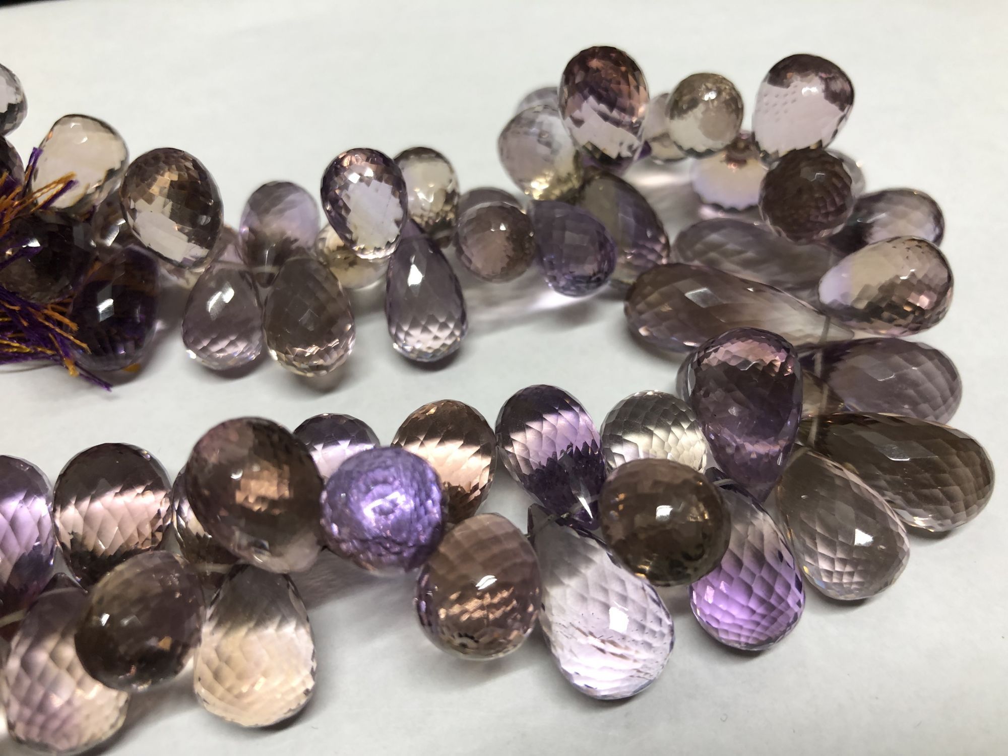 Ametrine Drops Faceted