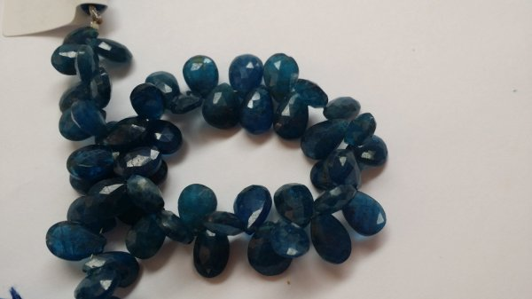 Dark Apatite Pear Faceted (NATURAL)