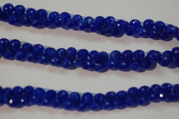 Dark Blue Chalcedony Onions Faceted