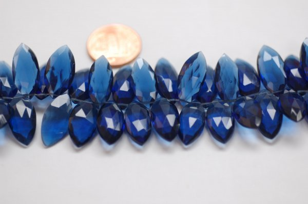 Dark Blue Hydro Marquise Faceted