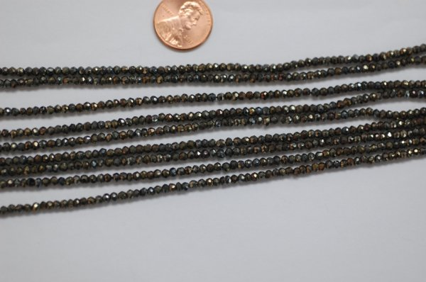 Dark Brown Spinal Rondelle Faceted