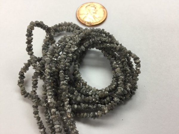 Dark Grey Rough Cut Diamonds Faceted