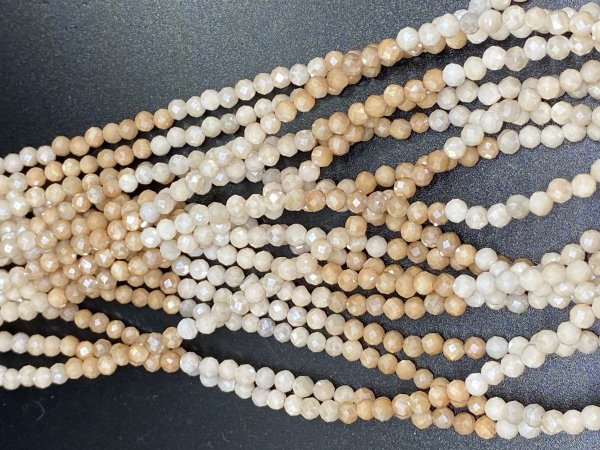 Coated Moonstone Rondelle