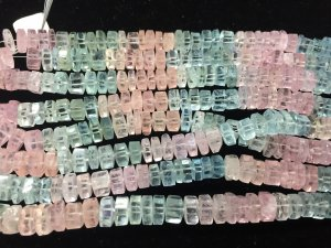 Natural Multi Aquamarine Tassels Faceted
