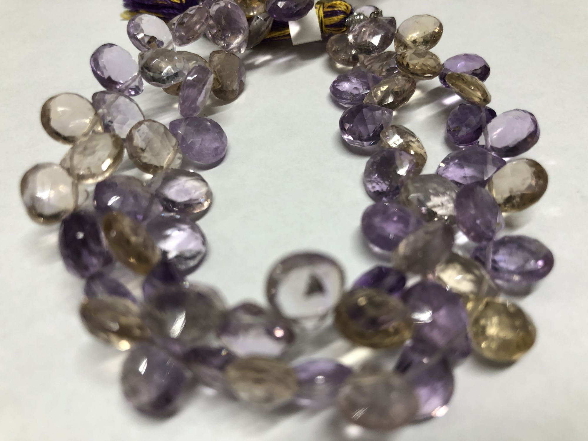 Ametrine Hearts Faceted