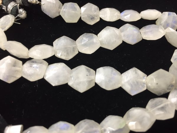 Moonstone Hexagon Faceted