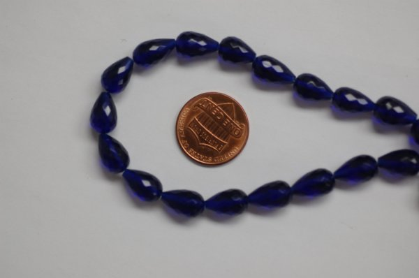 Electric Blue Hydro Quartz Straight Drill Drops Faceted