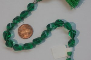 Emerald Green Hydro Quartz Faceted