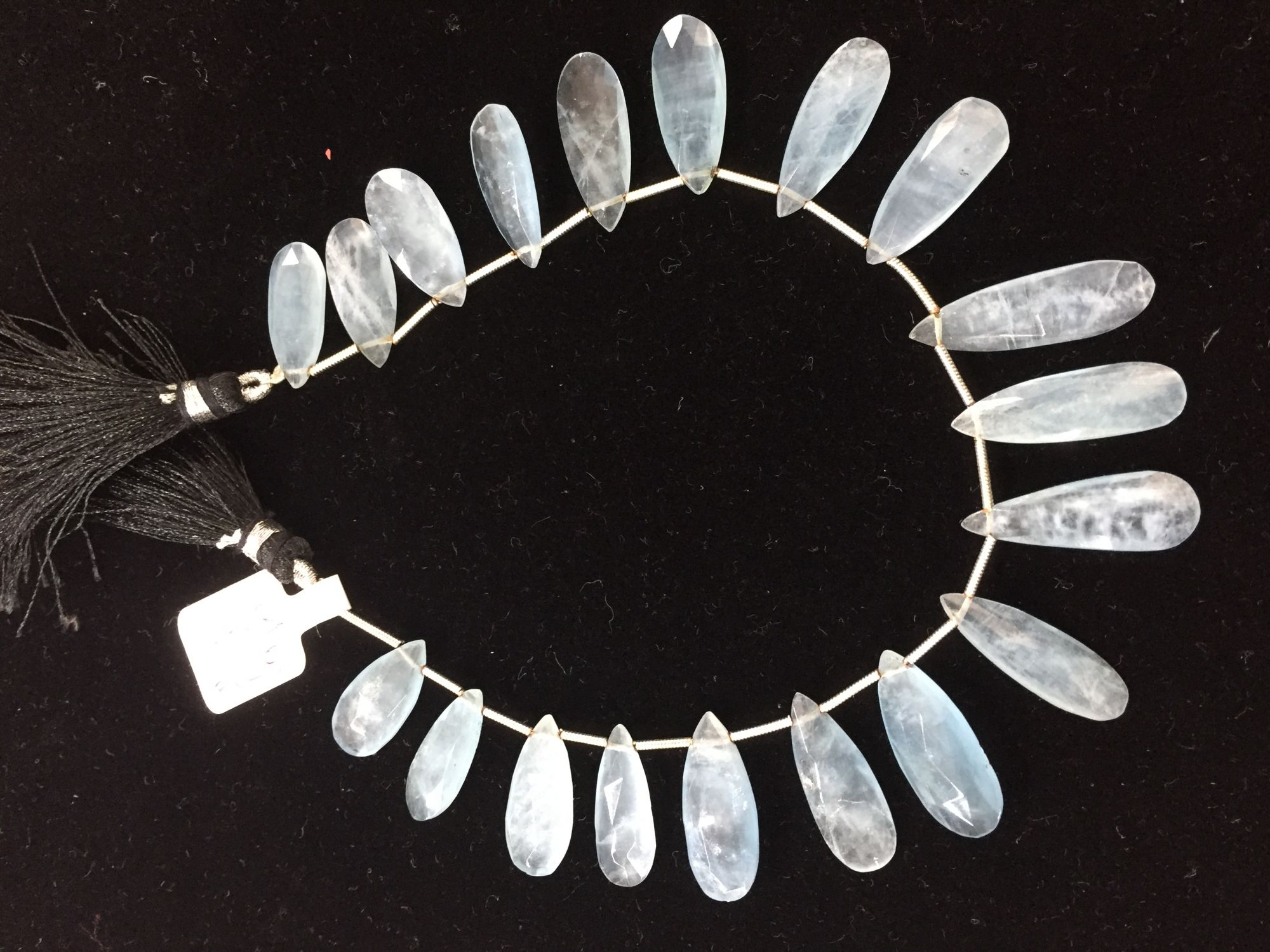 Aquamarine Long Pears Faceted