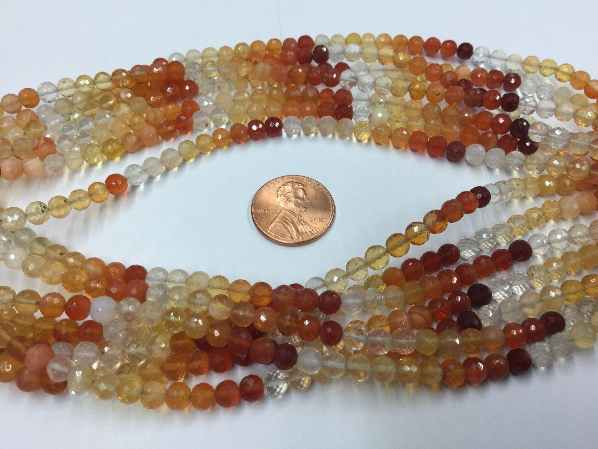 Fire Opal Rounds Faceted