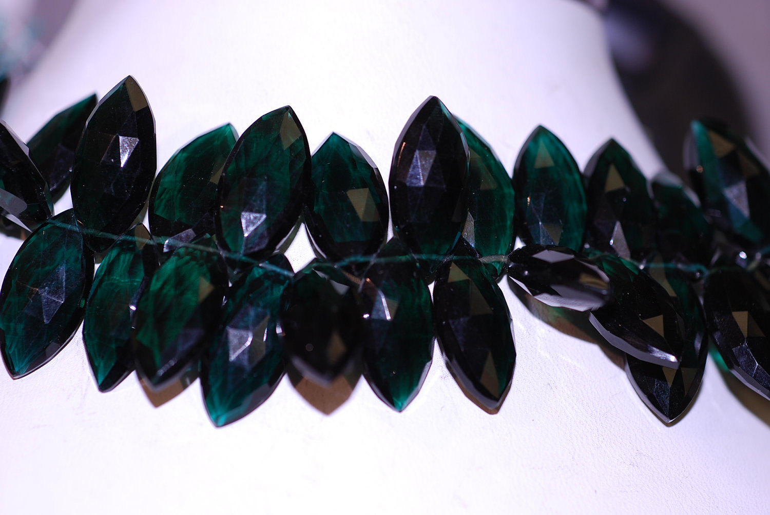 Forest Green Hydro Quartz Marquise