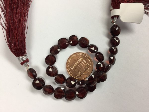 Garnet Coins Faceted
