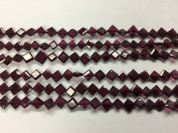 Garnet Kite Cut Faceted