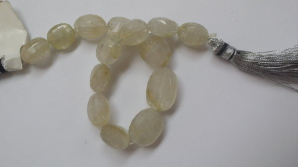 Golden Rutilated Oval Faceted