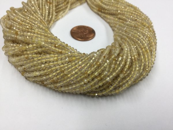 Golden Rutilated Rondelles Faceted