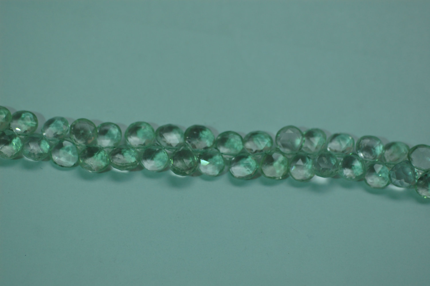 Green Amethyst Heart Faceted