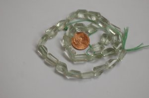 Green Amethyst Step Cut Faceted