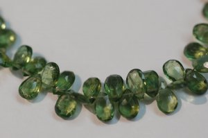 Green Apatite Pear Shape Faceted ( BIGGER SIZE )