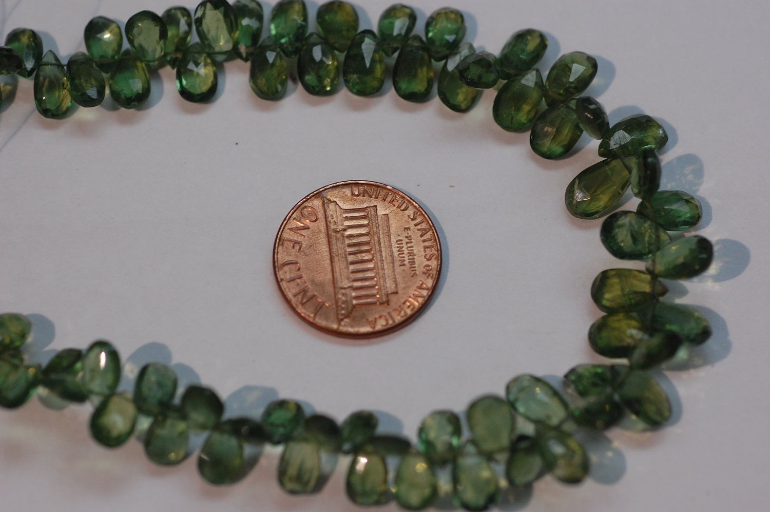 Green Apatite Pear Shape Faceted