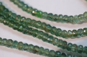 Green Apatite Rondelle  Faceted(BIG Size)
