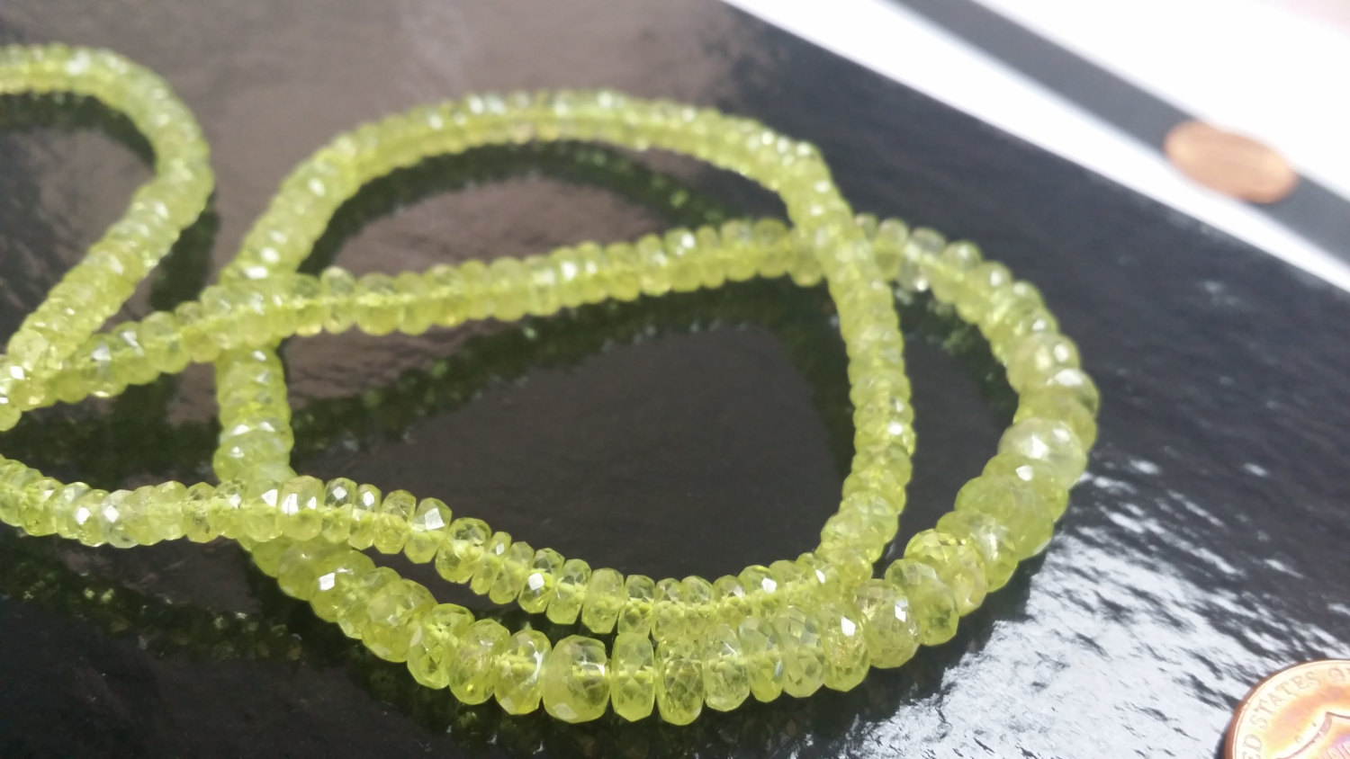 Green Chrysoberyll Rondelle Faceted