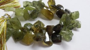 Green Grossular Funky Cut Faceted