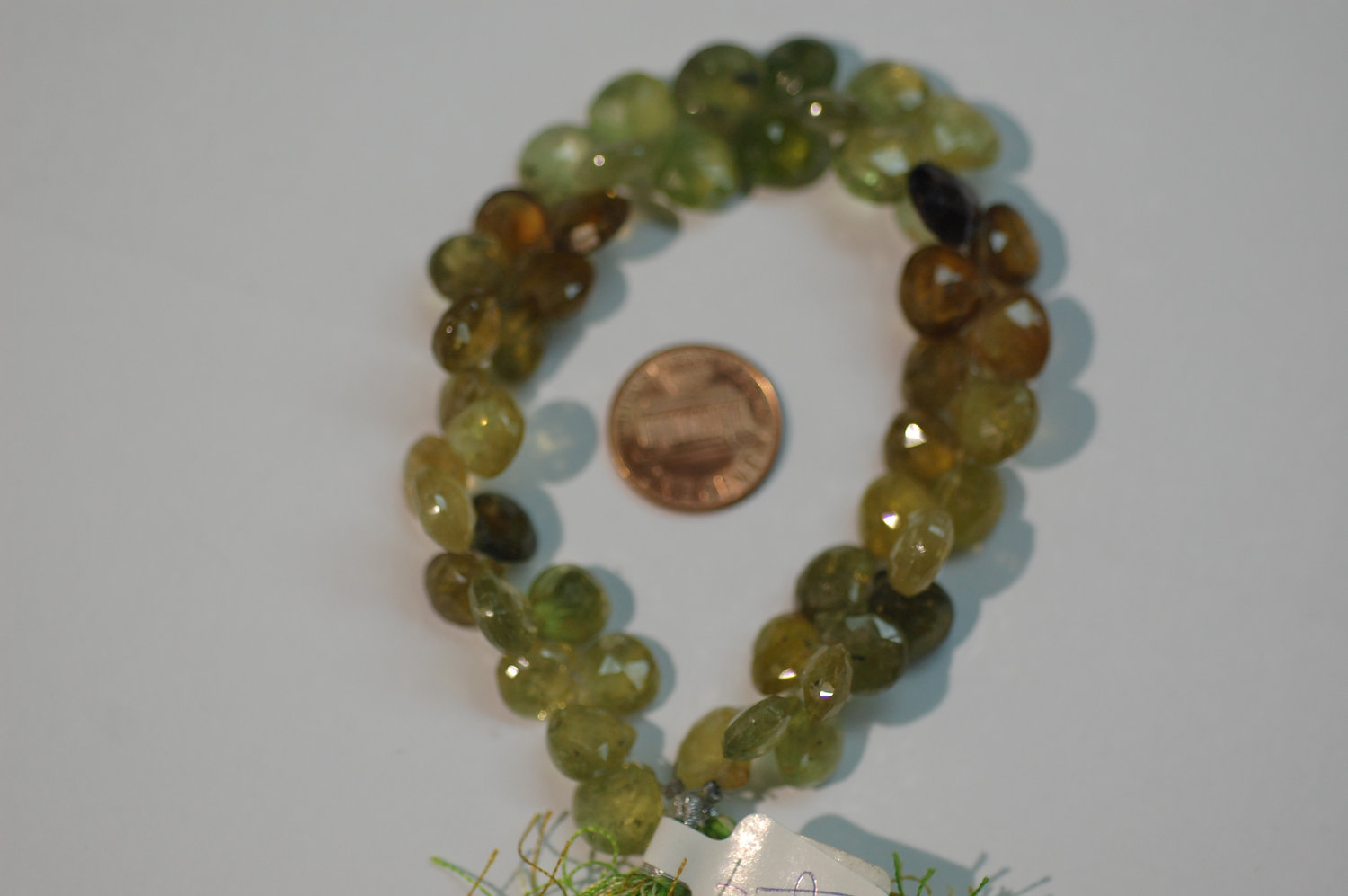 Green Grossular Garnet Heart Faceted