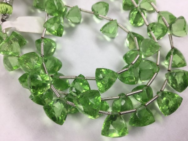 Green Hydro Quartz  Trillions Faceted
