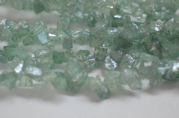 Green Mystic Corundum Funky Cut Faceted (Platinum Polished)