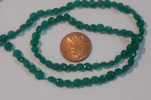 Green Onyx Coins Faceted