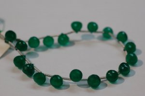 Green Onyx Onions Faceted