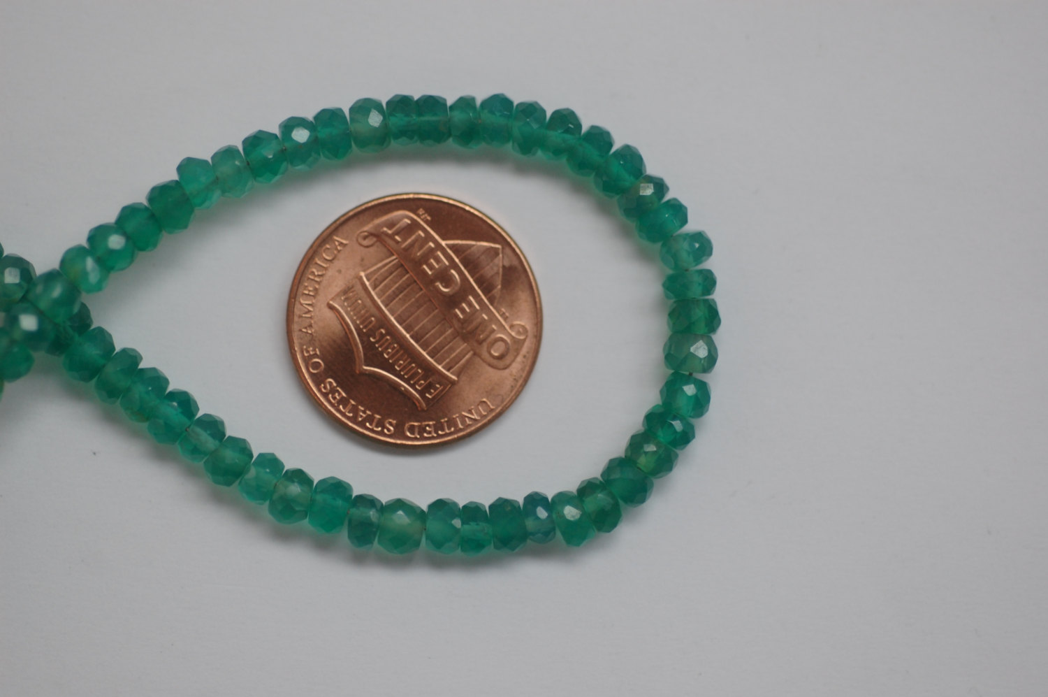 Green Onyx Rondelle Faceted