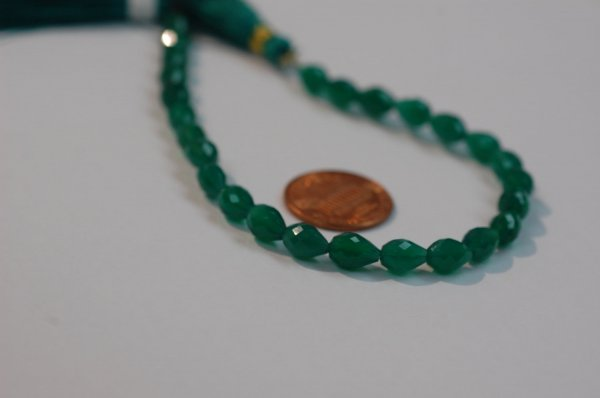 Green Onyx Straight Drill Drops Faceted