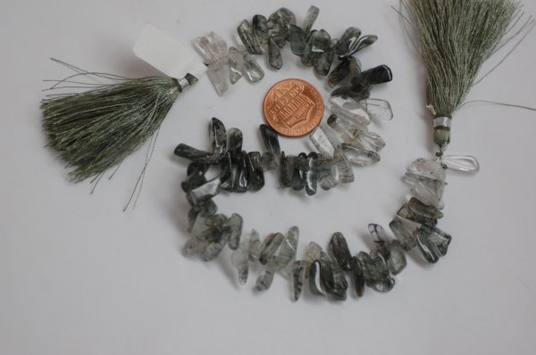 Green Rutilated Quartz Funky Smooth
