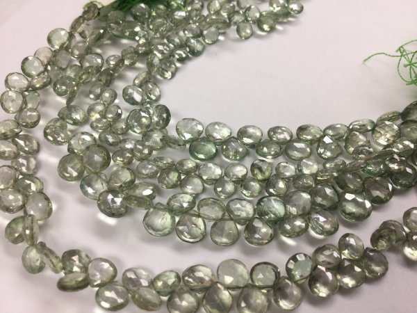 Green Topaz Hearts Faceted