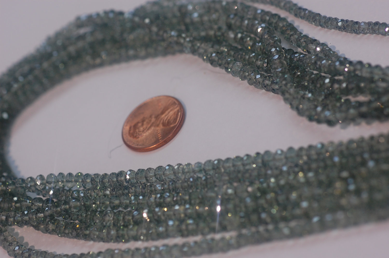 Green Topaz Rondelle Faceted