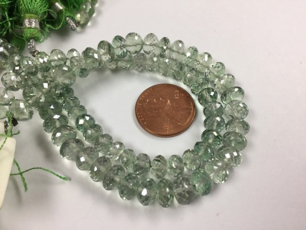 Green Topaz Rondelles Faceted