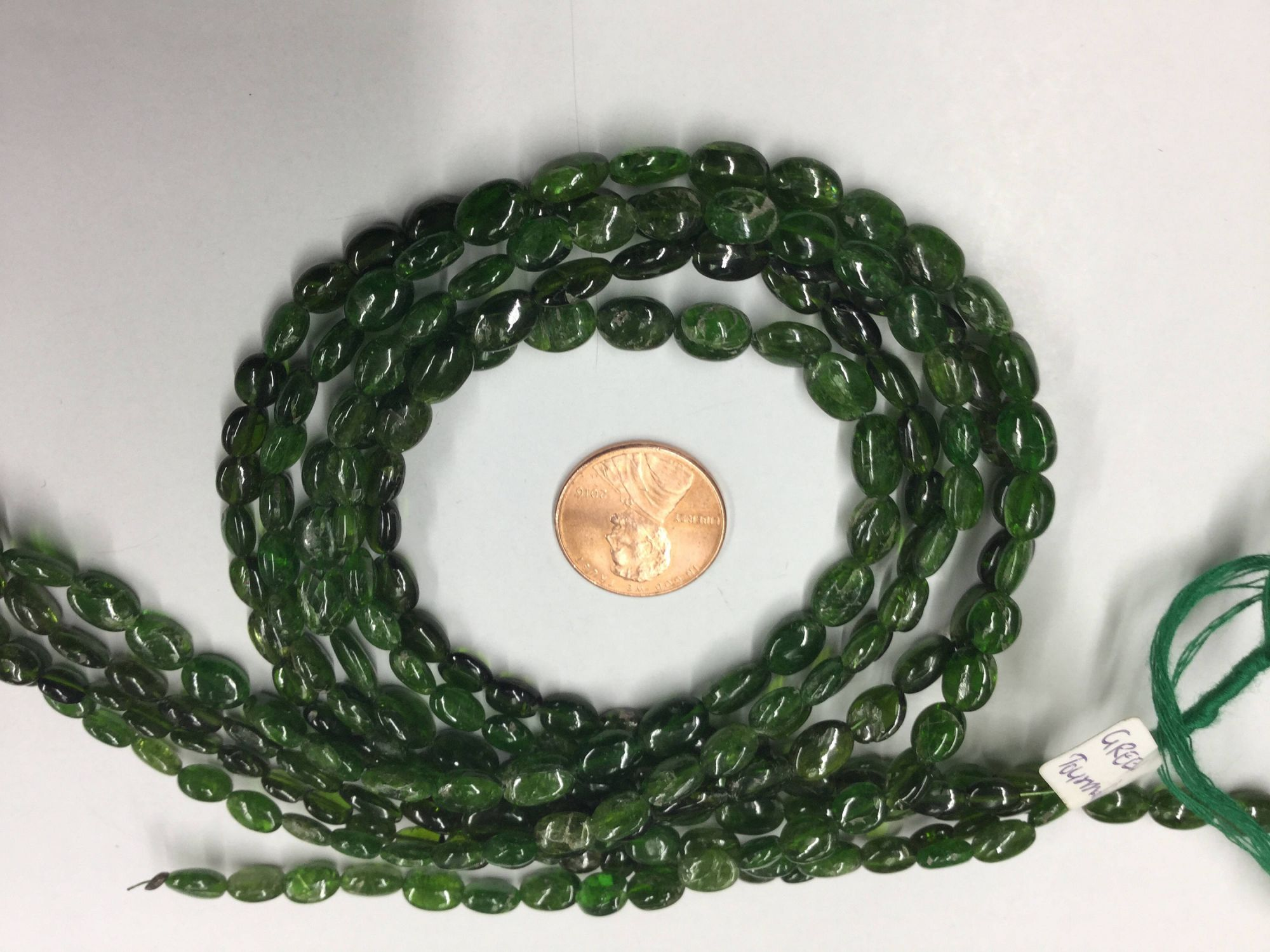 Green Tourmaline Ovals Smooth