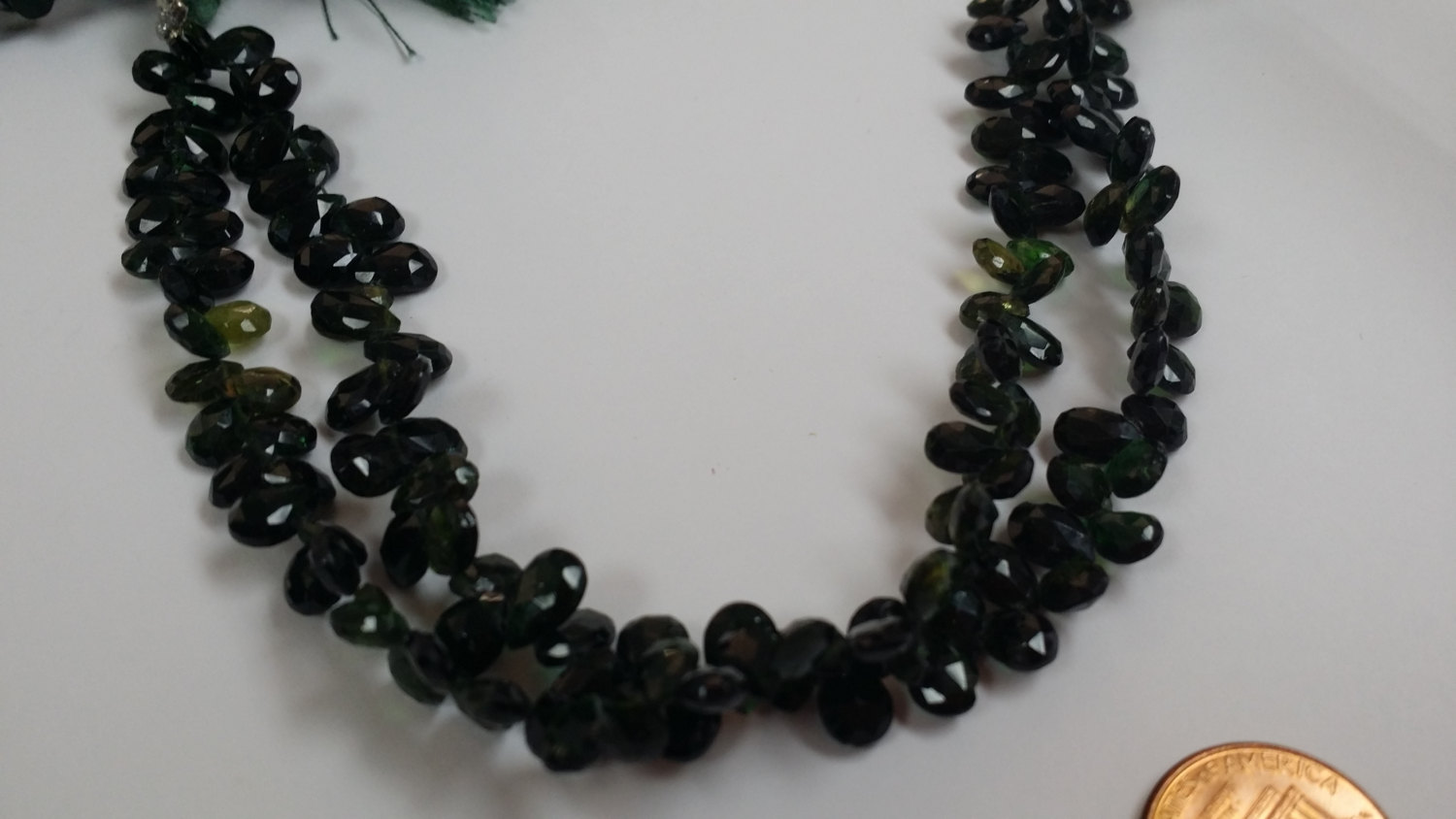 Green Tourmaline Pears Faceted