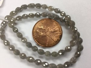 Grey Diamond Ovals Faceted