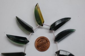 Hydro Forest Green Okra Faceted (5 Pieces)