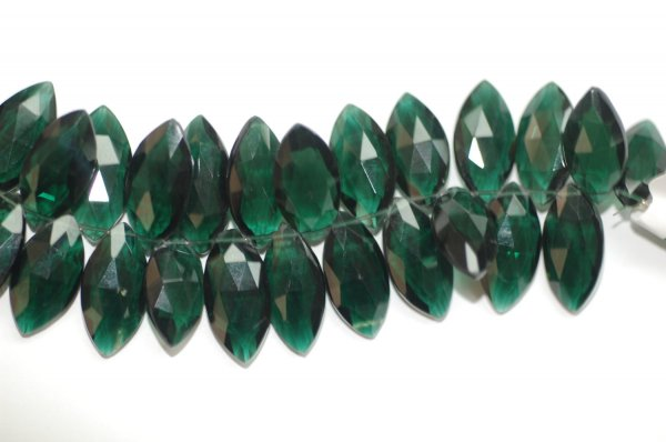 Hydro Forest Green Quartz Marquise Faceted