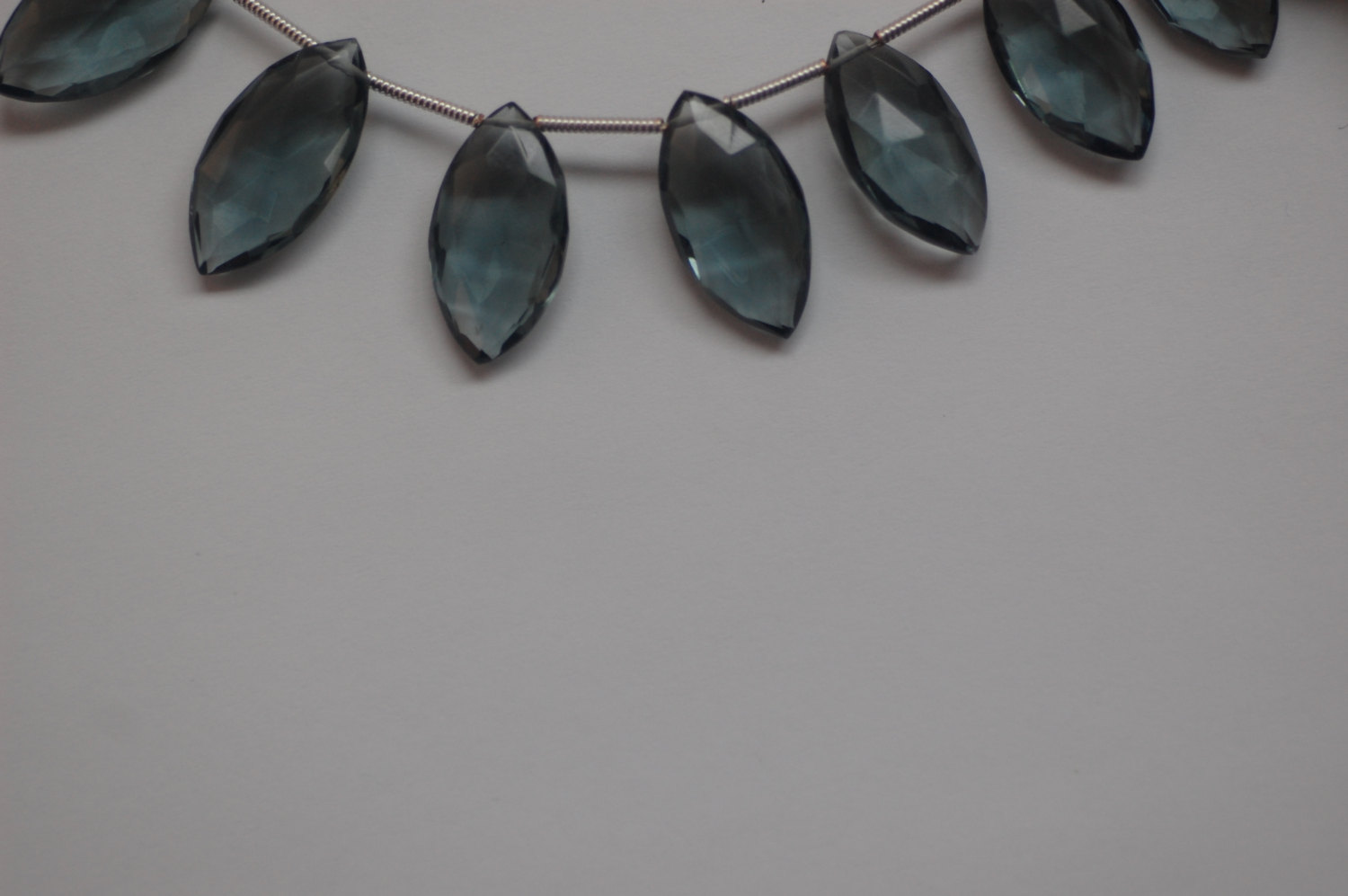 Hydro Gray Quartz Marquise Faceted