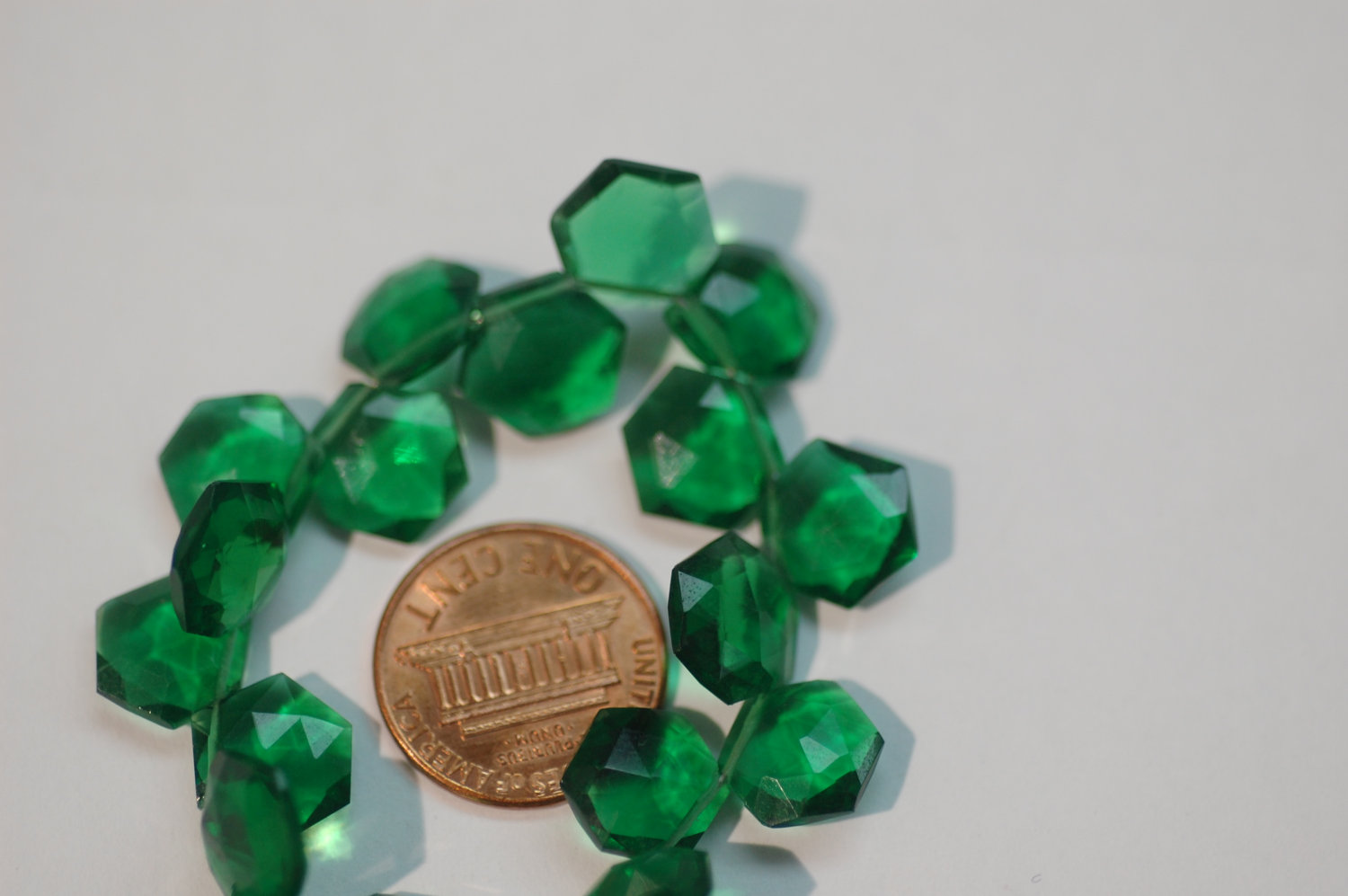 Hydro Green Octagon Faceted